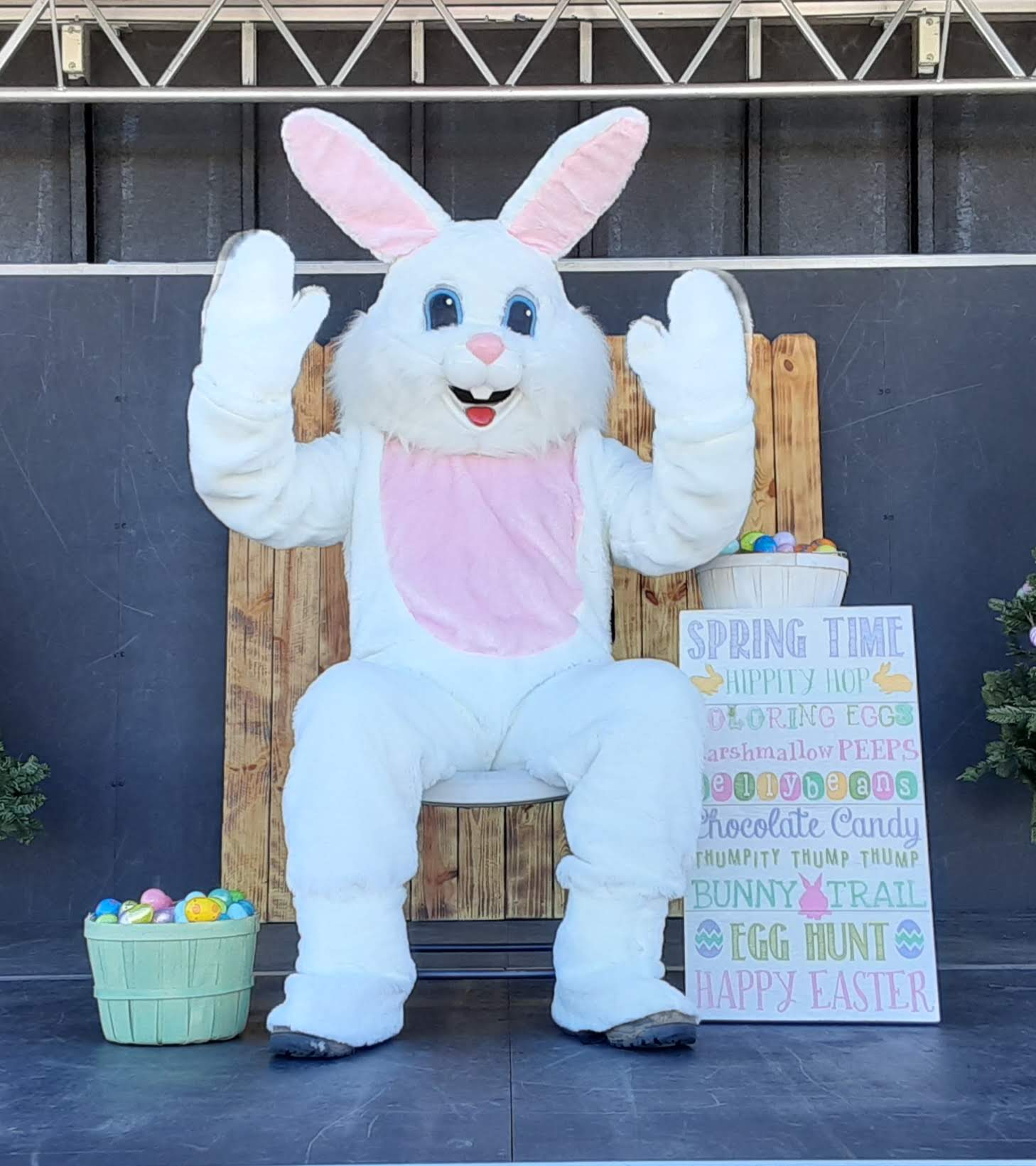 Rec Department takes kids on a Hoppin' down the Bunny Trail Easter egg hunt